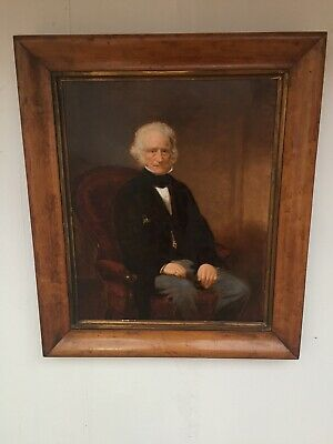 Amazing 19th Century Old Master Style Portrait Painting Seated Gentleman