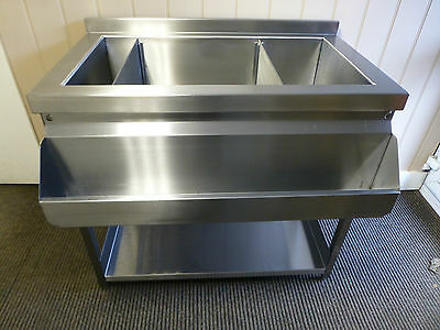 Cocktail Bar Station, Stainless Steel, Fully Insulated Freestanding Ice Well
