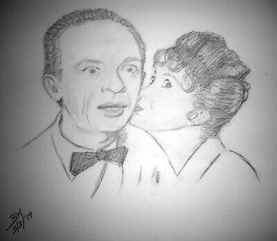 The Andy Griffith Show Don Knotts Thelma Lou Betty Lynn Barney Mayberry  Drawing