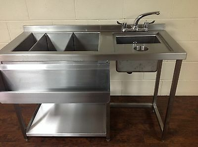 Prep Cocktail Bar Station, Stainless Steel, Bar Sink & Fully Insulated Ice Well