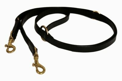 """80"""" Bridle Leather POLICE STYLE DOG TRAINING LEAD ADJUSTABLE with Brass fitting"""