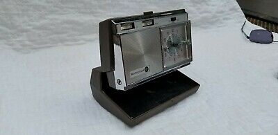 Vintage Westinghouse A/M Transistor Radio Travel Wind Up Alarm Clock, Works !