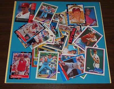 Big Lot Of 44 Mixed Phillies Baseball Cards Unsearched Ungraded  New  8607