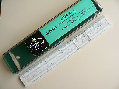 A. W. Faber  Castell  111/87  Slide  Rule  System Rietz   Boxed  Manual