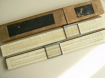 Lot Of Two Slide  Rule  A.w. Faber  Castell  11/87   And 1/87/387 System Rietz