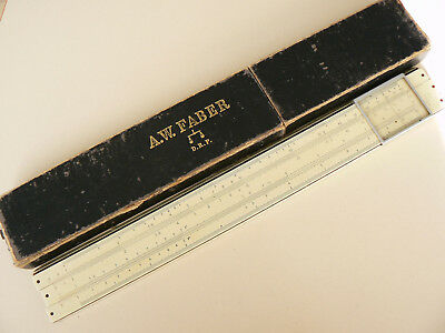A.w. Faber Castell Slide Rule 375 System Rietz With Case