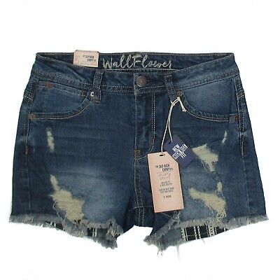 ee2d3dc123505 Wallflower Jean Shorty Shorts Size 5 Sky High Curvy Fit Junior Womens Denim