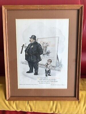 "Black Americana Cream of Wheat Advertising 1916 FRAMED /MATTED 14.75"" X 11.75"""