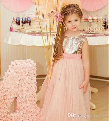 25ef4117b93 Formal Flower Girl Dress Kids Pageant Bridesmaid Wedding Prom Party Ball  Gown