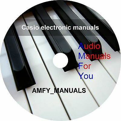 CASIO ELECTRONICS SERVICE manuals, owners manuals and schematics on 1 DVD