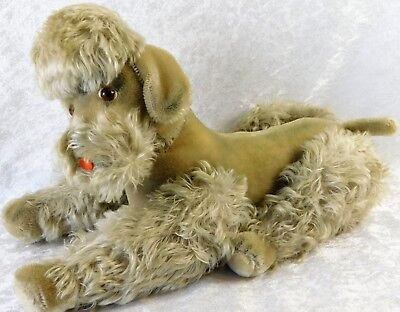 Atq Large Steiff Mohair Plush French Poodle Germany Dog Doll 14""
