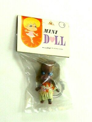 kiddle clone 1960s Hong Kong NOS Green dress Mini Doll keychain