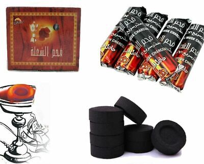 100 CHARCOAL Coal Discs for SHISHA hookah SMOKING PIPE Flame Light