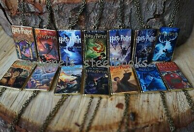 Harry Potter Book Cover Necklace Choice Of Designs New