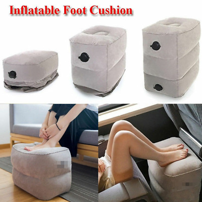 Inflatable Travel Footrest Leg Foot Rest Travel Pillow Pad Kids Bed Portable