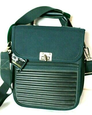 ac3a89d2d19 VTG Mandarina Duck Tank Hunter Green Messenger Crossbody Bag Travel  Briefcase