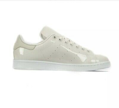 buy popular acf87 c092e Adidas Stan Smith Womens Size 5 Patent Leather Trainers Sneakers BA7497 In  White