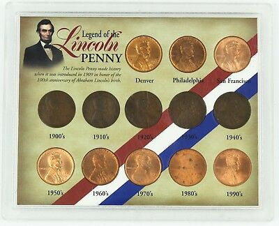 Amazing United States Legend of the Lincoln Penny 13 Coin Collection