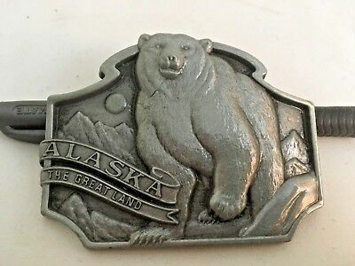 Alaska The Great Land Bear Arctic Made In Canada Belt Buckle New