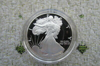 1986-S American Silver Eagle Proof Dollar Coin w/ Box & COA: First Year of Issue