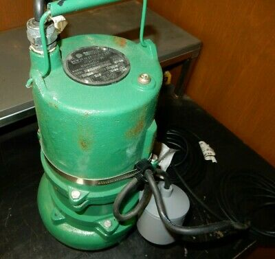 Hydromatic SK100M7 Submersible Sewage Ejector Pumps 20' Power Cord