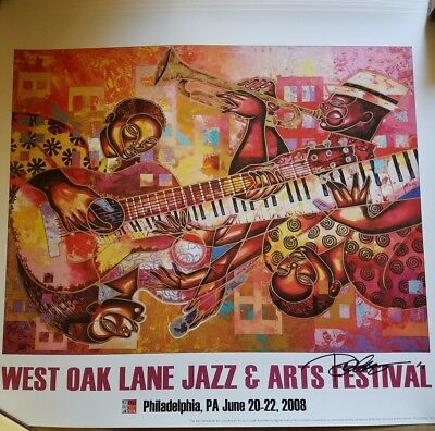 WEST OAK LANE JAZZ & ARTS FESTIVAL 2008 PRINT SIGNED by Artist. Philly Music
