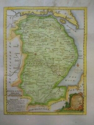 Antique map of Lincolnshire by Thomas Kitchin 1760