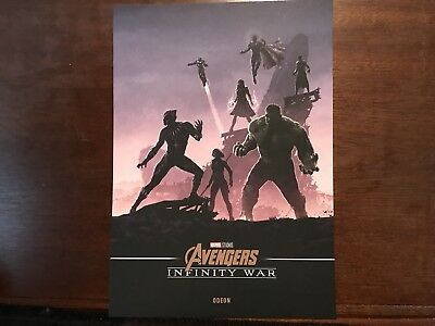 Marvel Avengers Infinity War A4 Poster Odeon Exclusive Hulk Black Panther