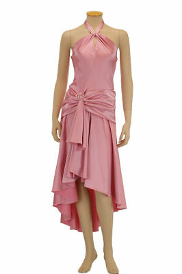Jarlo Womens Dulche Pink Satin Halter Party Evening Dress Gown 8 M BHFO 3977