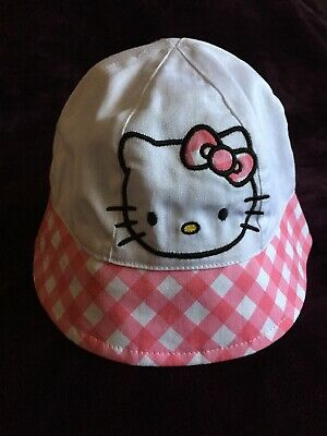 677a726d072b0 NEW Hello Kitty One Size Pink and White Girls Toddlers Bucket Cap Sun Hat