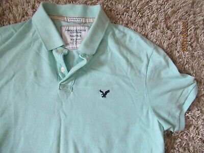 ac44486211 Men's short sleeve polo shirt by American Eagle Outfitters Size XXL Light  Blue