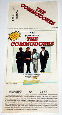 THE COMMODORES billet Collector ticket concert ITALY Milano 80's