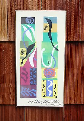 Henri Matisse Beasts Of The Sea Wood Plaque 1973 National Gallery Art Print 12X6