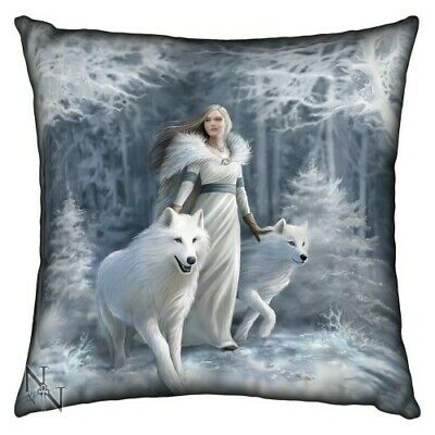 Anne Stokes Winter Guardian Cushion Pillow - Brand New Fantasy/Gothic Giftware