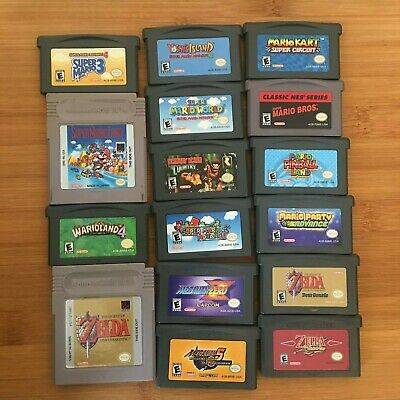 Game Boy Advance/Color Games - Mario, Zelda, Megaman and More!
