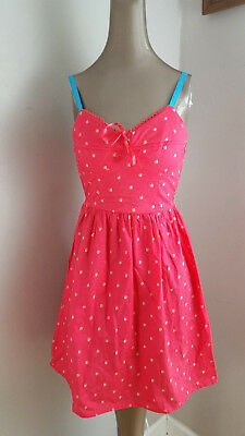 10421937765 Mossimo Coral Red Sleeveless Sundress Bow Tie size S