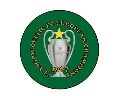 Glasgow Celtic FC European Cup Champions Badge 58mm 2.2 inches