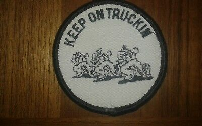 """R. CRUMB / MR NATURAL / embriodery patch """" keep on truckin"""" original new old 73"""