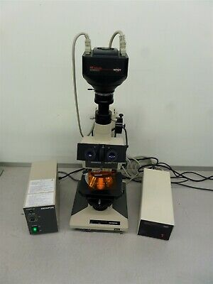 Olympus BH-2 Microscope w/ Fluorescence SP402-115 and Power Supply BH2-RFL-T3