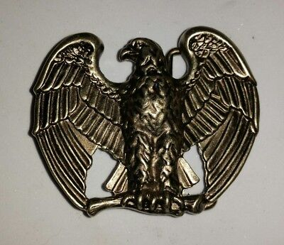 Vintage Avon American Eagle Brass Belt Buckle