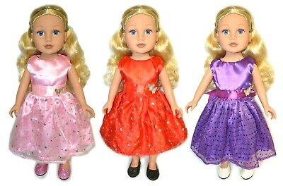 18 inch Doll Clothes & Shoes Set For American Girl Doll Princess Dress Lot