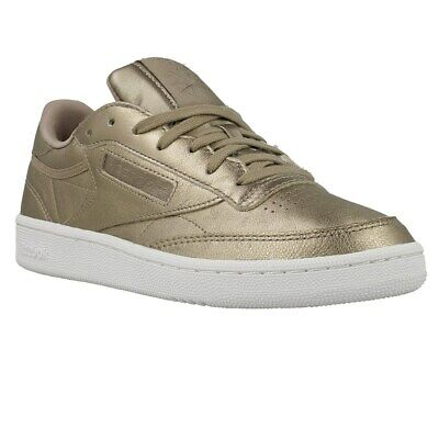 1f9db110bc6 Reebok Club C 85 Melted ME Pearl Metgrey Gold BS7901 golden halfshoes
