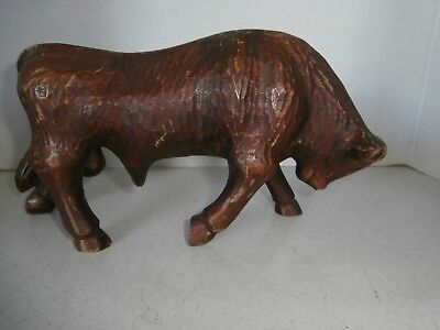Chinese Wood Bull No Horn Early 1940Good