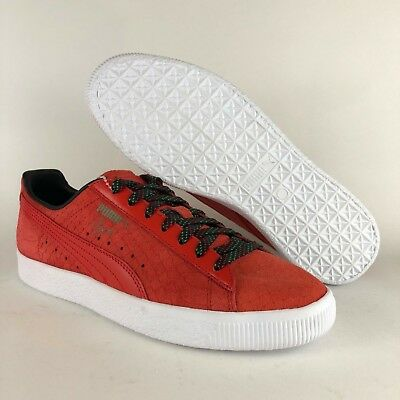 PUMA WOMEN CLYDE GCC Sneaker 10 Textured Lace Up Suede