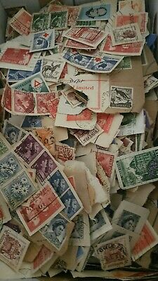 100 Grams Of Predecimal Australian Stamps On Paper