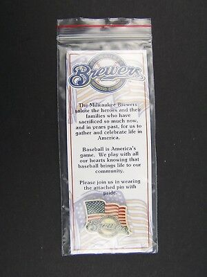 Milwaukee Brewers Salutes Heroes Commerative Pin