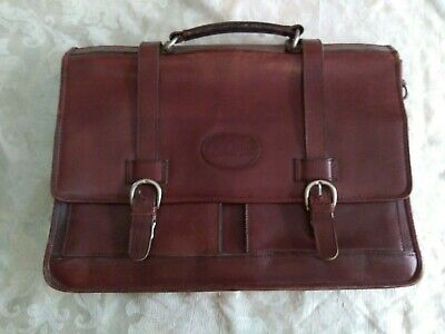 Vintage Bugatti Laptop/briefcase bag genuine Leather, Wear consistent with age