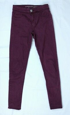 Womens American Eagle Outfitters AE Super Stretch Extreme Legging Burgundy Sz 00