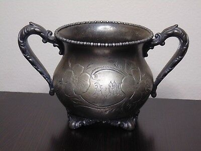 Vintage Knickerbocker Silver Co Silver-plated Footed Sugar bowl