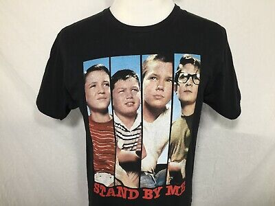 Stand By Me Movie Adult Large Black T Shirt Retro Reissued 1980s Tee River Corey
